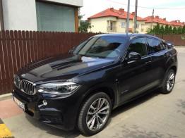 Wynajem samochodów osobowych Warszawa - czarne BMW X6