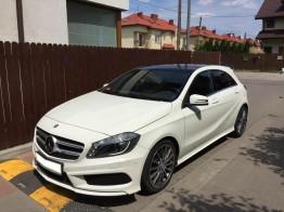 Długo i krótkoterminowy wynajem samochodów osobowych Warszawa - biały Mercedes-benz A 180